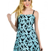 """Women's """"Swallows"""" Ritzy Dress by Banjo and Cake (Blue)"""