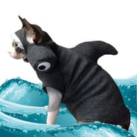 Shark Costume Cat Hat Sphynx Cat Clothes Hammerhead Hat in fleece. Custom Shark Week Hat for Cats and Dogs Halloween Party Hat for Pets.