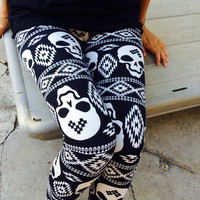 Dilarah Skull Leggings
