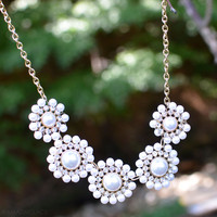 Fifth Avenue Pearl Crystal Necklace
