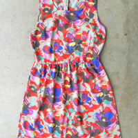 Blooming Abstract Dress [3072] - $34.00 : Vintage Inspired Clothing &amp; Affordable Summer Dresses, deloom | Modern. Vintage. Crafted.
