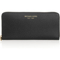 MICHAEL Michael Kors | Textured-leather wallet | NET-A-PORTER.COM