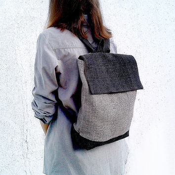 Backpack - Rucksack - Canvas backpack - Laptop backpack