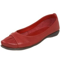 The Flexx Women`s Tiramisu Ruched Flat,Red,6.5 M US