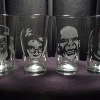 Harry Potter 16 oz Glasses- Set of 4