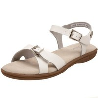 Bass Women`s Joanne Sandal,White,10 M US