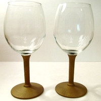 2 Wine Glasses with Gold Chalk Board