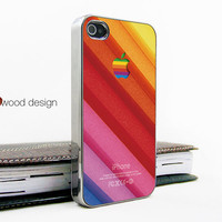 light silvery iphone 4 case iphone 4s case iphone 4 cover beautiful colors apple logo unique Iphone case design