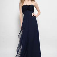 Wholesale Sweetheart Chiffon A Line Ruched Bodice Floor Length Dress Style 7379 ,for $149.38 only in VikiDress.com.