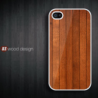 iphone 4 case iphone 4s case iphone 4 cover brown wood texture design printing