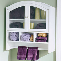 White Arch Bathroom Wall Cabinet
