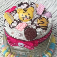 SALE- TAKE OFF 15% Kawaii Decoden Jar Cupcake Miniature Sweets