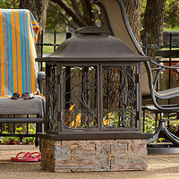 Taylor Portable Indoor/Outdoor Gel Fuel Fireplace