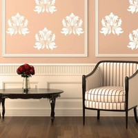 Victorian Damask Vinyl Wall Decal by EmpireCityStudios on Etsy