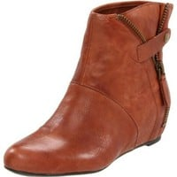 Nine West Women`s Grates Ankle Boot,Medium Brown Leather,7.5 M US