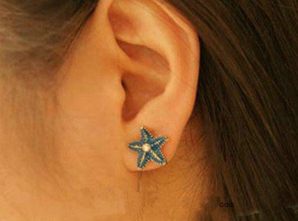 Chic Starfish Stud Earrings at Online Jewelry Store Gofavor