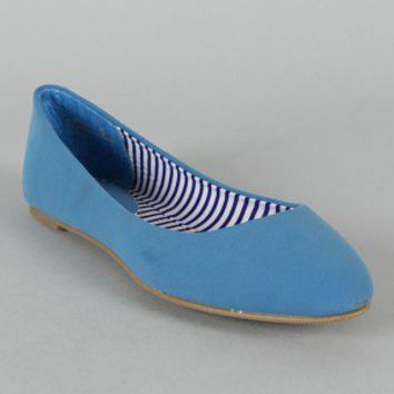 Bamboo Jump-01N Pointy Toe Ballet Flat