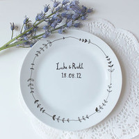 personalised hand drawn wedding plate by mr teacup | notonthehighstreet.com