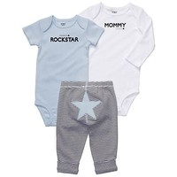 Carter`s 3-pc. Blue Rockstar Bodysuit Set