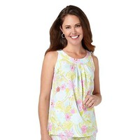 Coral Bay Nights Floral Print Pajama Top
