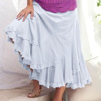 Denim 24/7 Plus Size French Skirt