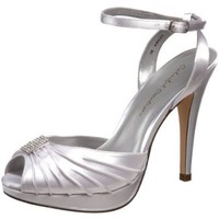 Colorful Creations Women`s Ashley Platform Sandal,White Dyeable,7 M US