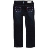Levi`s Toddler Girls Toddler 1607 Heartbreaker Slim Straight Jean