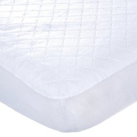 Carters Keep Me Dry Waterproof Quilted Crib Pad, 2 Pack , White