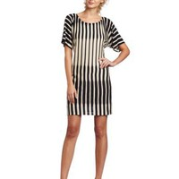 Ali Ro Women`s Boat Neck Striped Knit Dress