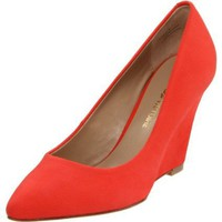 Pour La Victoire Women`s Mai Wedge Pump, Coral Red, 6.5 M US