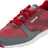 Reebok Men`s Classic Leather Ultralite Sneaker,Uber Berry/Flat Grey/White,11 M US