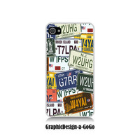 Iphone 4/4s case , License Plate design, custom cell phone case