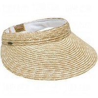 Dorfman Pacific Ladies Scala Braided Straw Visors