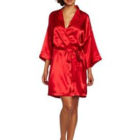 Intimo Women`s Poly Charmeuse Robe
