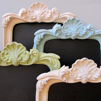 FRAMED CHALKBOARD Shabby Chic Pastel Chalk Board Candy Bar Sign Picture Frame Vintage Style Kitchen Chalkboard - Any Color