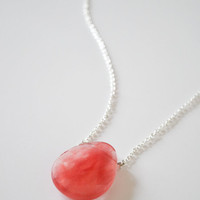 Coral Quartz Necklace - Ready to Ship