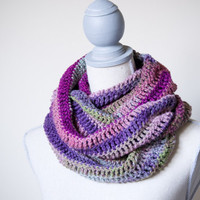 Purple Multicolor Infinity Scarf - Made to Order - FREE SHIPPING