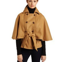 WHAT GOES AROUND COMES AROUND Women`s Bergen Short Wool Cape