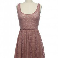 Ready to Rose Dress in Dusty Pink