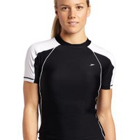 Speedo Women`s Piped Swim Rashguard Coverup Tee