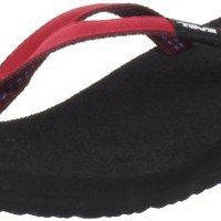 Teva Women`s Ribbon Mush Flip Flop,Red,9 M US