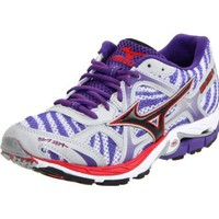 Mizuno Women`s Wave Elixir 7 Running,White/Anthracite/Prism Violet,8 B US