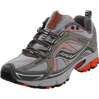 Saucony Women`s Grid Excursion TR 6 Trail Running Shoe,Grey/Silver/Orange,10.5 M US