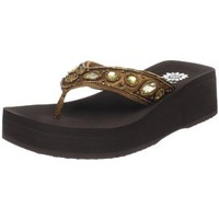 Yellow Box Womens Belonging Flip Flop,Bronze,11 M US
