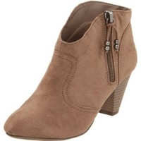 Madden Girl Women`s Payge Ankle Boot,Taupe Fabric,8.5 M US