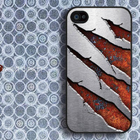 Case for black iphone 4 case iphone 4s case iphone 4 cover classic vertigo corrosion metal  graphic design printing