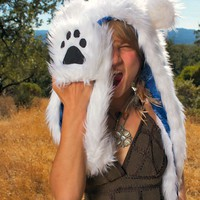 Faux Fur Polar Bear Hat with Scarf - Whimsical & Unique Gift Ideas for the Coolest Gift Givers