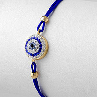 Blue Eye bracelet rhinestone
