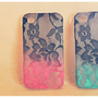 Ombre Iphone Lace Case Detail Black
