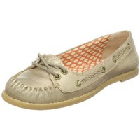 Fossil Women`s Willow Braided Boat Flat,Gold,6.5 M US
